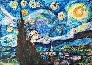 ゴッホ「星月夜を描く」